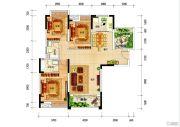 银投乾坤国际城3室2厅2卫120平方米户型图