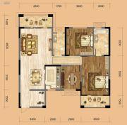 中南一号院2室2厅2卫118平方米户型图