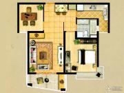 翡翠公馆2室2厅1卫0平方米户型图