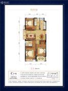 碧秀名庭3室2厅2卫100平方米户型图