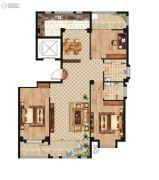 中正公馆3室2厅2卫126--133平方米户型图
