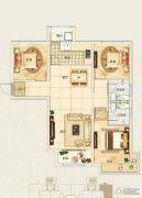 东郦湖3室2厅2卫114平方米户型图