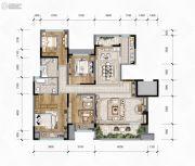 华润琨瑜府4室2厅2卫140平方米户型图