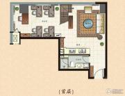 鲁商国奥城3室2厅1卫0平方米户型图