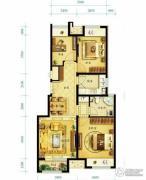 金地朗悦3室2厅1卫89平方米户型图
