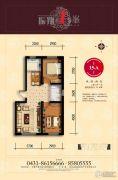 振翔15�o2室2厅1卫92平方米户型图
