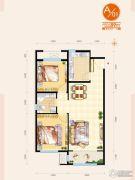 通泰国际公馆2室2厅1卫89平方米户型图