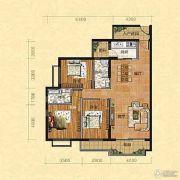天颜国际3室2厅2卫133平方米户型图
