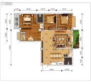磁湖南郡4室2厅2卫140平方米户型图
