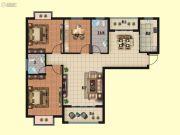 随州坤泰悦都3室2厅2卫118--120平方米户型图