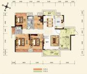 广博峰景4室2厅2卫139平方米户型图