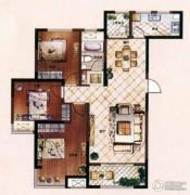 爱家皇家花园3室2厅1卫124平方米户型图