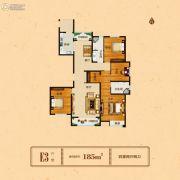 谦祥万和城4室2厅2卫185平方米户型图