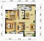 九腾1街区3室2厅1卫98平方米户型图