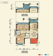 置信凯旋国际3室2厅1卫88--95平方米户型图
