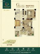 新田城2室2厅2卫106--107平方米户型图