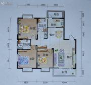 艺海苑3室2厅1卫130平方米户型图