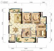 旷远・洋湖18克拉4室2厅2卫129平方米户型图