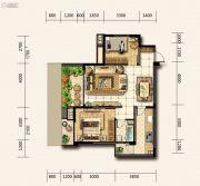 金龙星岛国际2室2厅1卫0平方米户型图