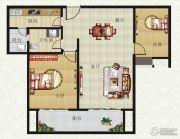 山畔景苑2室2厅1卫95平方米户型图