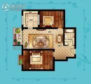 北海・水印泉山2室2厅1卫106平方米户型图