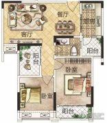 冠景瑞园3室2厅2卫85平方米户型图