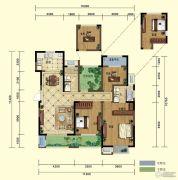 弘阳广场4室2厅2卫137平方米户型图