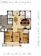 盛世森林花园3室2厅2卫132平方米户型图