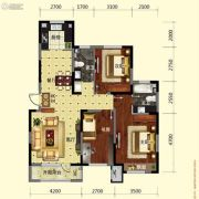 保利溪湖林语3室2厅2卫121平方米户型图