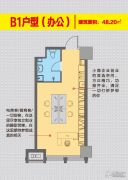 润兴公馆1室0厅0卫48平方米户型图