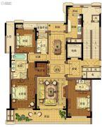 台州中央花园3室2厅3卫185平方米户型图