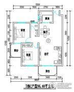 君尚一品小区二期2室2厅1卫95平方米户型图
