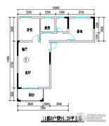 君尚一品小区二期2室2厅1卫91平方米户型图