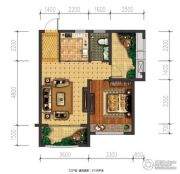 兴盛天鹅堡1室1厅1卫57平方米户型图