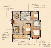 鹏欣瑞都 高层3室2厅2卫139平方米户型图
