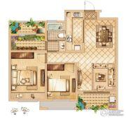首创悦都2室2厅1卫85平方米户型图