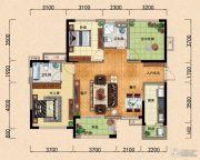 园方欧洲城2室2厅2卫110平方米户型图