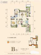 奥园城市天地3室2厅2卫95平方米户型图