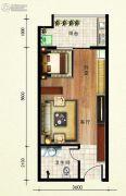 欢乐颂1室1厅1卫45平方米户型图