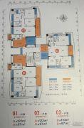 畔山四季公馆3室2厅2卫110平方米户型图