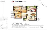 时代长岛3室2厅2卫95平方米户型图