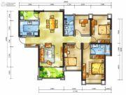 雅居乐十里花巷4室2厅2卫145平方米户型图