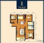 包头中城・国际城3室2厅2卫103平方米户型图