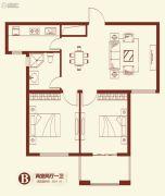 紫薇壹�2室2厅1卫85平方米户型图
