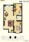 天保绿城2室2厅1卫0平方米户型图
