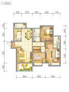 东岭幸福悦2室2厅1卫125平方米户型图