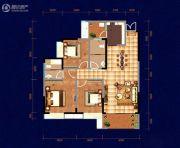 中天・宝电馨城3室2厅2卫119平方米户型图