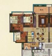 珠光流溪御景3室2厅1卫96平方米户型图