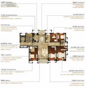 洛城中央御景5室2厅3卫200平方米户型图