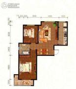 山海雅居2室2厅1卫93平方米户型图